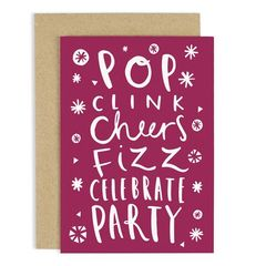 Pop Clink Cheers.... Card
