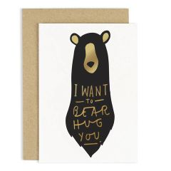 Bear Hug Luxury Foil Card
