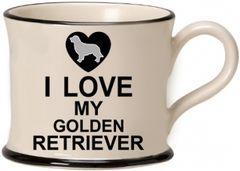 I love my Golden Retriever Mug by Moorland Pottery