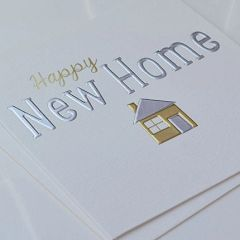 Silver / Gold Happy New Home Card