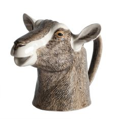Large Goat Jug by Quail Ceramics