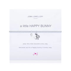 A LITTLE HAPPY BUNNY SILVER PLATED BUNNY CHARM by Joma