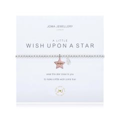 A LITTLE WISH UPON A STAR BRACELET Silver Bracelet with Rose Gold WISH Star by Joma
