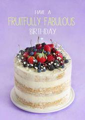 Birthday Cake Recipe Card by Laura Truby