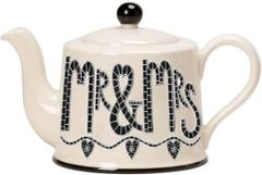 Mr & Mrs Teapot by Moorland Pottery