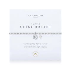A LITTLE SHINE BRIGHT BRACELET Silver bracelet with sparkling charm by Joma