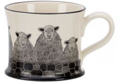 Sheep Herd Mug by Moorland Pottery