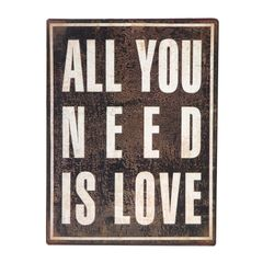 'All You Need Is Love' Metal Plaque