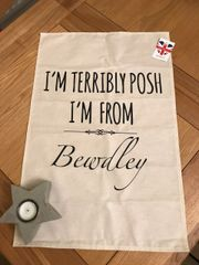 Terribly Posh BEWDLEY Tea-Towel