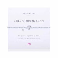 A LITTLE GUARDIAN ANGEL SILVER PLATED ANGEL by Joma