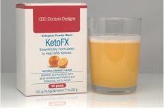 KetoFX - Ketogenic Powder Blend - Orange Cream (14 per box)