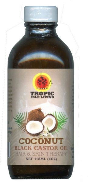 Tropic isle Coconut with Castor oil 4oz