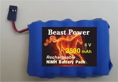 Receiver Pack 2800mAh 6.0v NIMH Low Self Discharge Battery with charger