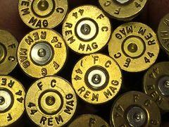 .44 Rem Magnum, 'Federal', Used Brass cases 50 pack.