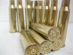 .7.62 x 54R assorted brand used rifle brass, 20pk