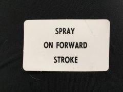 LABEL, SPRAY STROKE 06-245-05