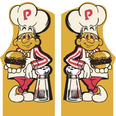 Burger Time Arcade Side Art Set (2pcs)