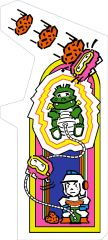 Dig Dug Arcade Side Art Set (2pcs.)