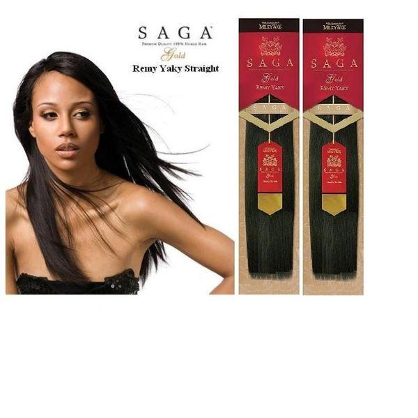 Milky Way Saga 100 Human Hair Weave Yaki Two Pack Deal