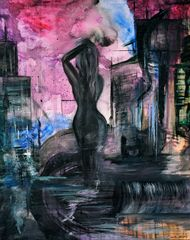 """18x24"""" Woman In The City print"""