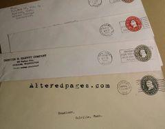 Vintage Business Envelope with Postmark (1)