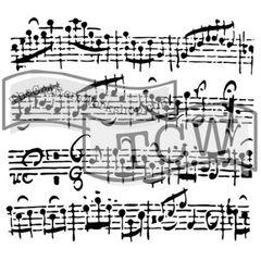 Stencil Music Sheet 6x6