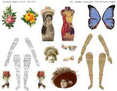 1067 Paper Dolls Digital Printable