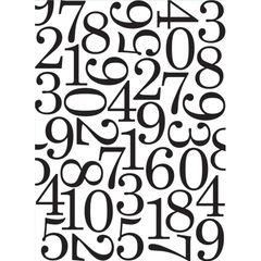 Embossing folder Numbers