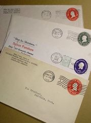 Vintage Mail with Postmark (1)