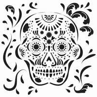 Sugar Skull 12 x 12 inch