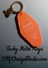 Tacky Motel Keychains Beach
