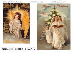 3580 Angelic Christmas Frameable