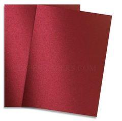 Red Satin Shimmer Paper