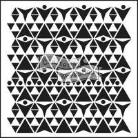 Triangle Plaid 12 x 12 Stencil