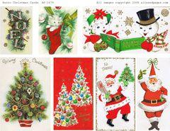 1679 Retro Christmas Cards