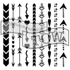 Stencil Heart & Arrow 6x6