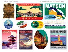 497 Vintage Travel Printable