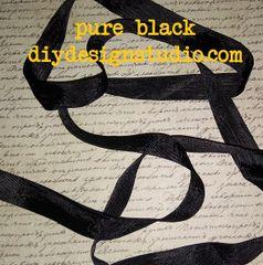 Pure Black Seam Binding (5yds)