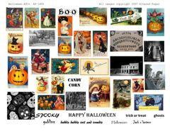 1488 Halloween ATCs