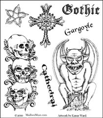 Muse Gothic Terror Stamp