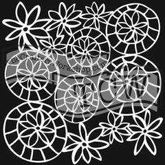 Striped Flower Circle 6 x 6