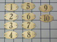 Die Cut French Enamel numbers
