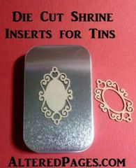Die Cut tin Shrine Inserts