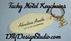 Tacky Motel Keychains Glamping
