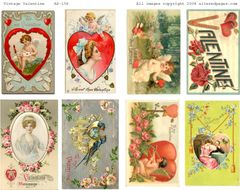 156 Vintage Valentines Digital