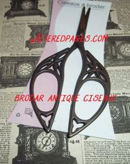 Ciseaux Broder Antique French