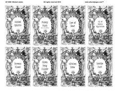 3009 Wicked labels Printable Digital