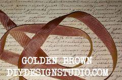 GOLDEN BROWN SEAM BINDING (5 YDS)