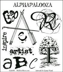 MUSE ALPHAPALOOZA stamp