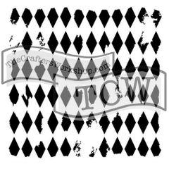 Stencil Harlequin 6x6